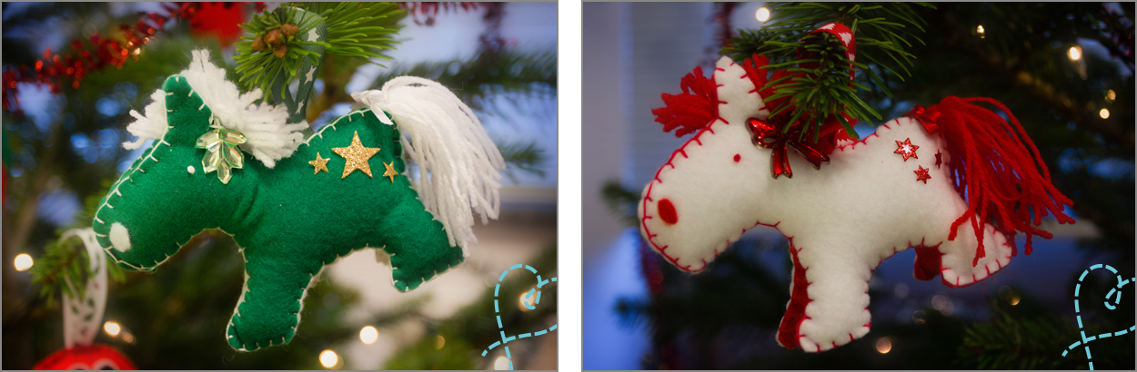 paardje kerstboom