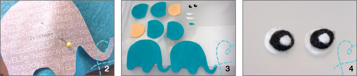 olifant stap 2-3-4