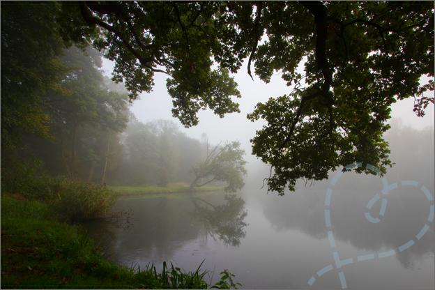 Mist Het landgoed de Wamberg