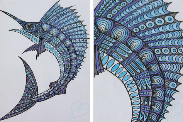 vis kleurboek