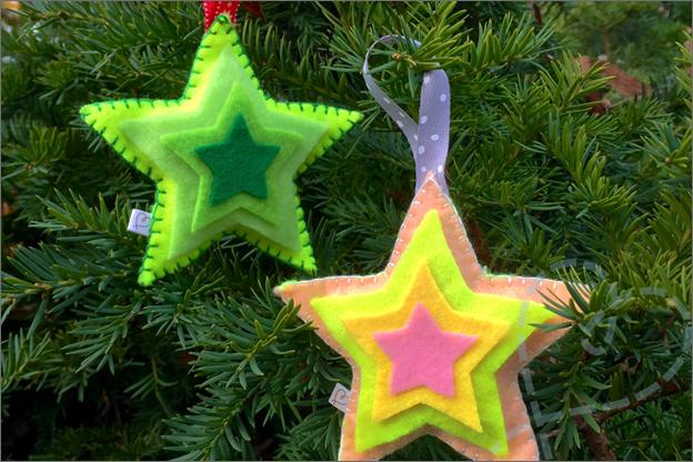 Sfeerfoto kerstster van vilt
