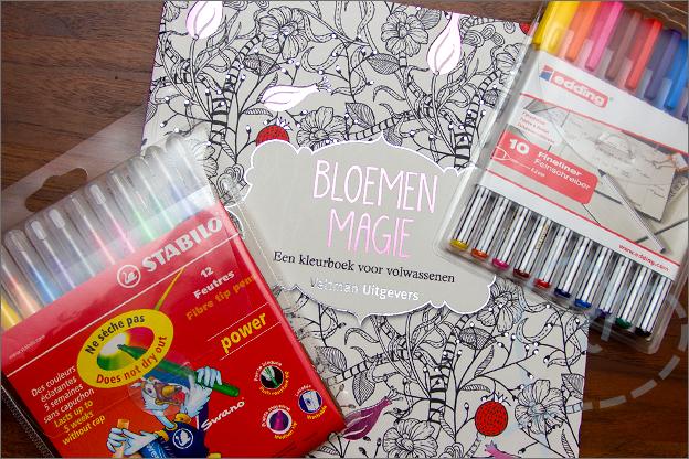 kleurboek voor volwassen Bloemenmagie