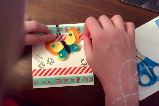 washi tape kaart