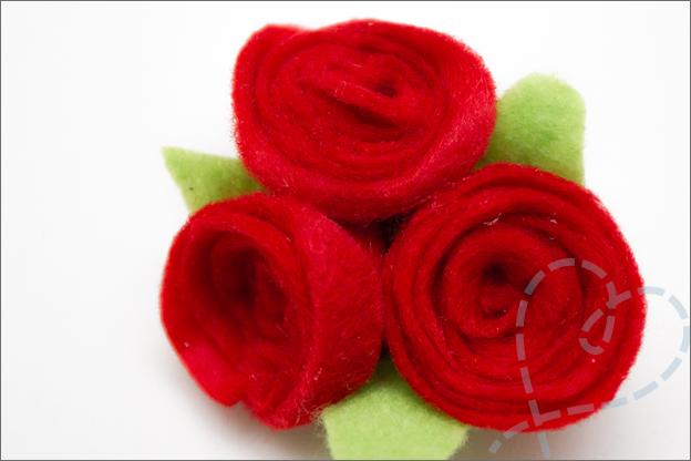 DIY roosje van vilt