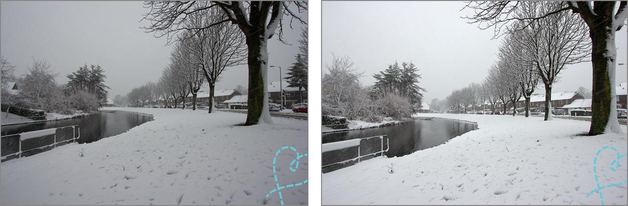sneeuw overbelicht