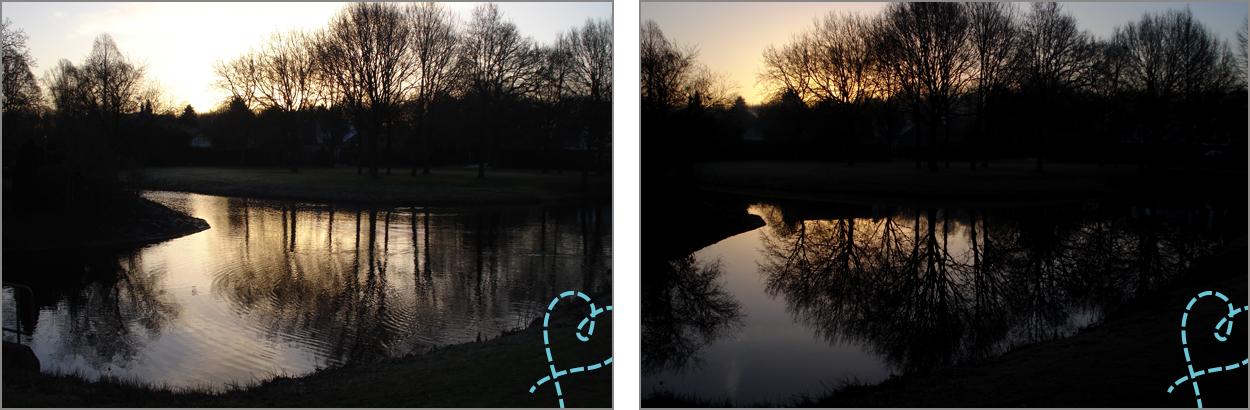 zonsondergang onderbelichten