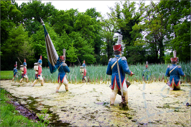 soldaten in water