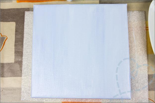 canvas achtergrond geverfd