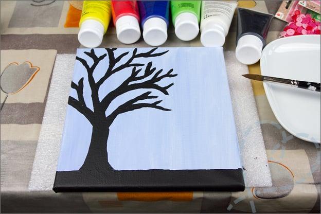 boom geschilderd