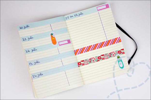 agenda washi tape plannen