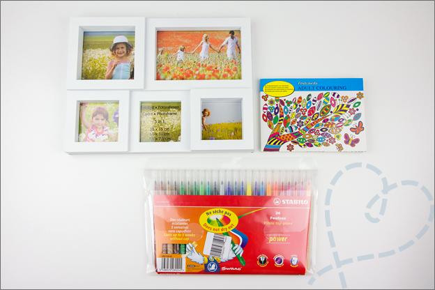 spullen kleurboek lijst stiften