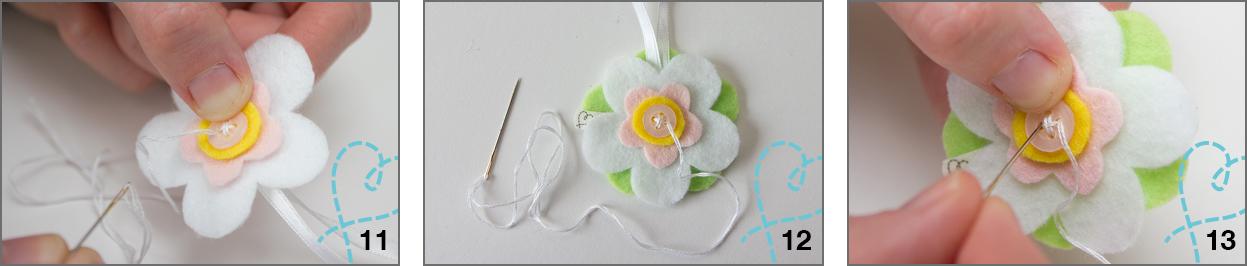 Tutorial bloemen van vilt stappen
