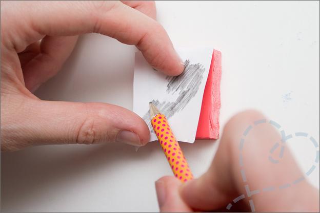 patroon op rubber stempel maken