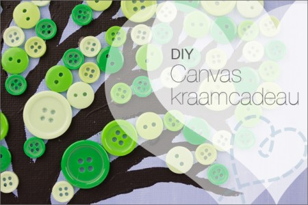 DIY Canvas Kraamcadeau #11