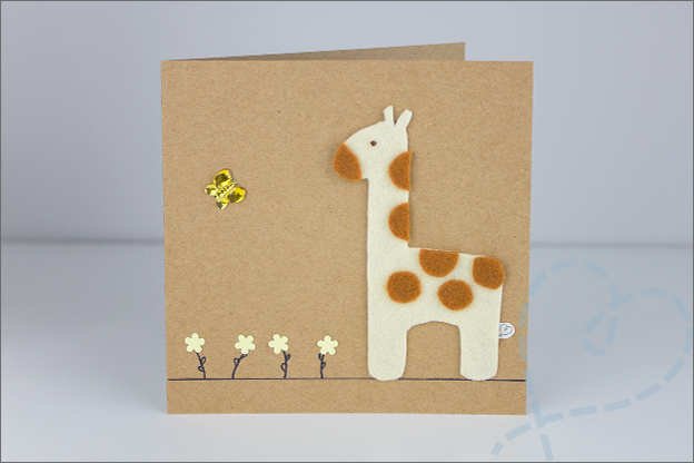 kaart met giraffe