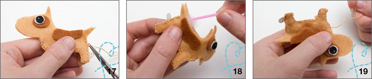 hondje van vilt maken
