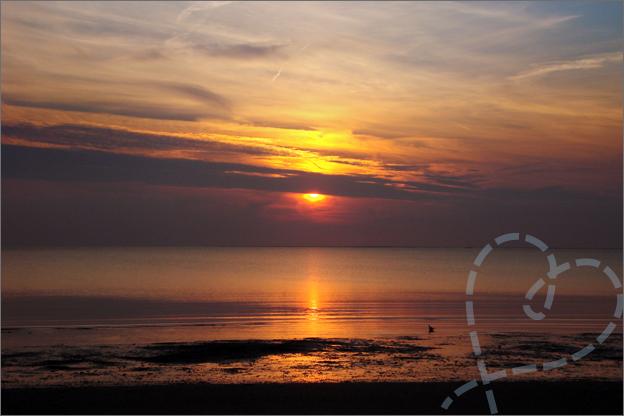 zonsondergang wolken