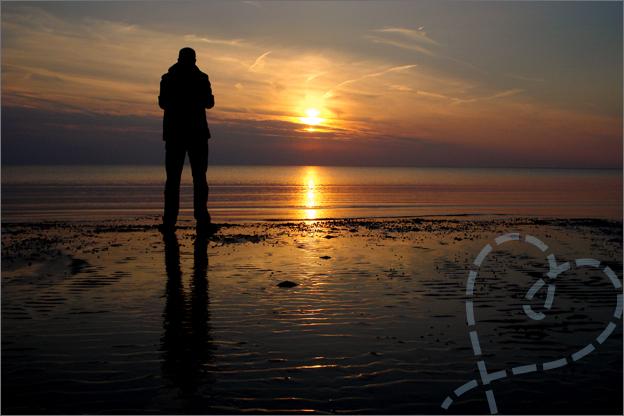 zonsondergang foto op het strand