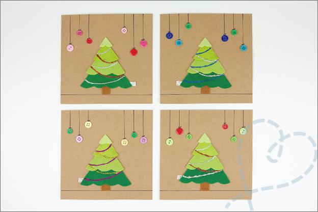 zelfgemaakte kerstkaarten voorbeelden