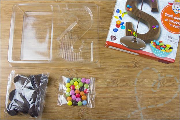 inhoud van doosje chocoladeletter maken