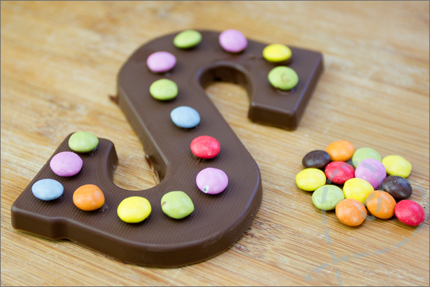 Chocoladeletter af
