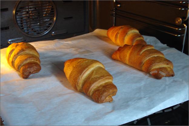 croissantjes uit te oven