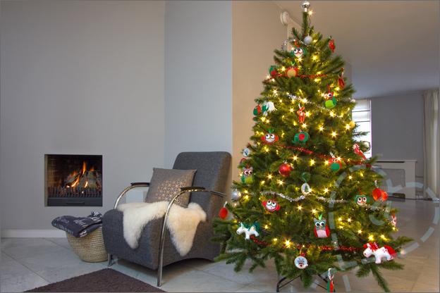 voorbeeld kerstboom woonkamer