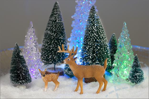 schaal met kerstdecoratie zelf gemaakt