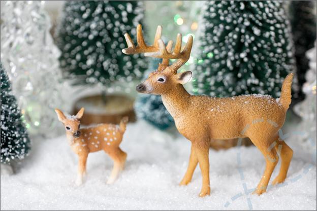 hertjes als kerstdecoratie