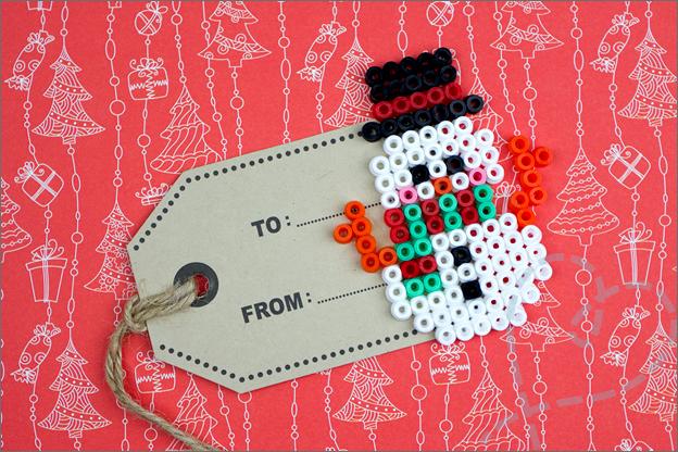 cadeaukaartje sneeuwpop