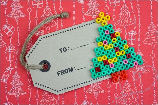 kaartje voor aan cadeau kerstboom