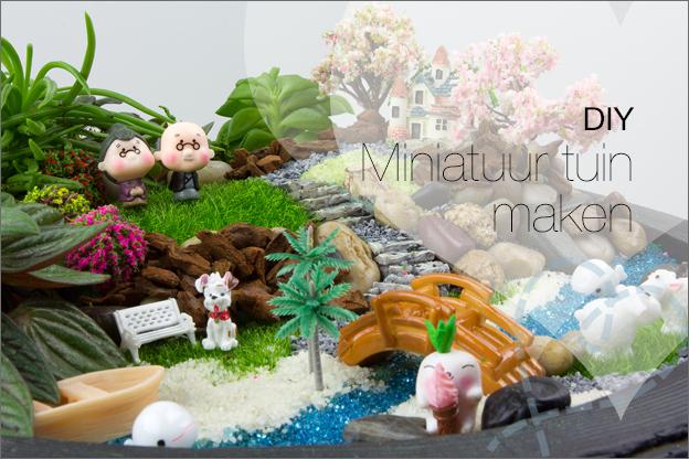 DIY miniatuur tuin maken