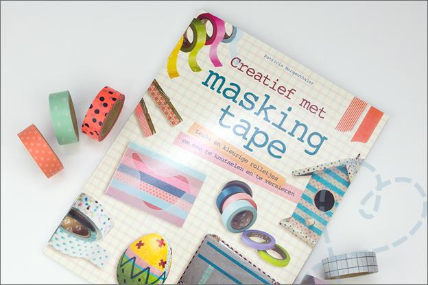 boek creatief met masking tape