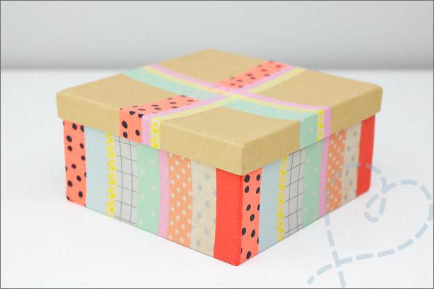 cadeaudoosje washi tape