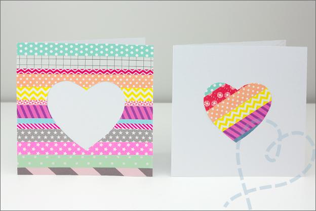 kaarten met washi tape