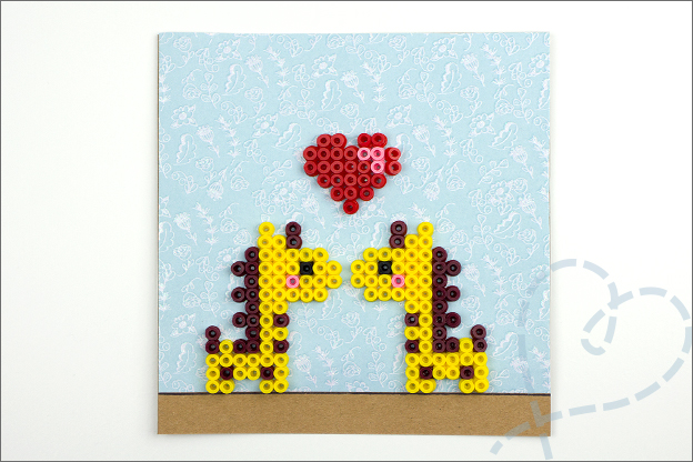 kaart strijkkralen patroon giraffe