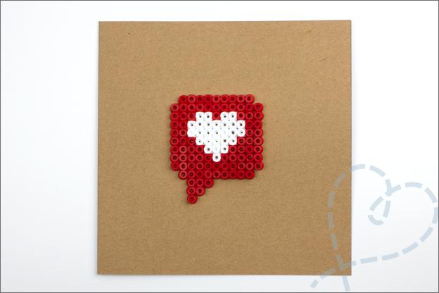 kaart strijkkralen patroon hart