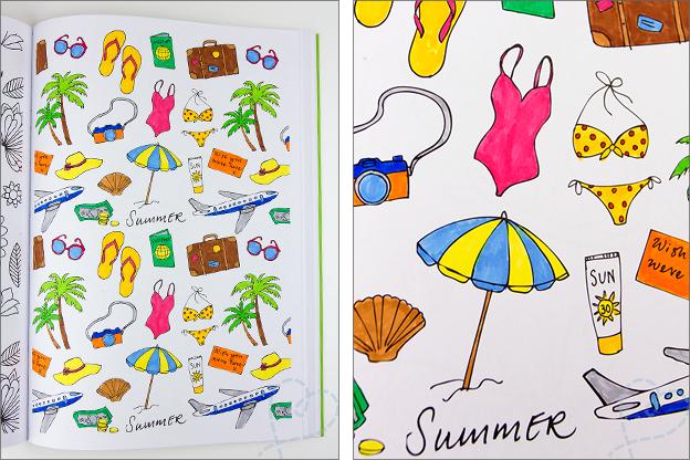 kleurplaat zomer