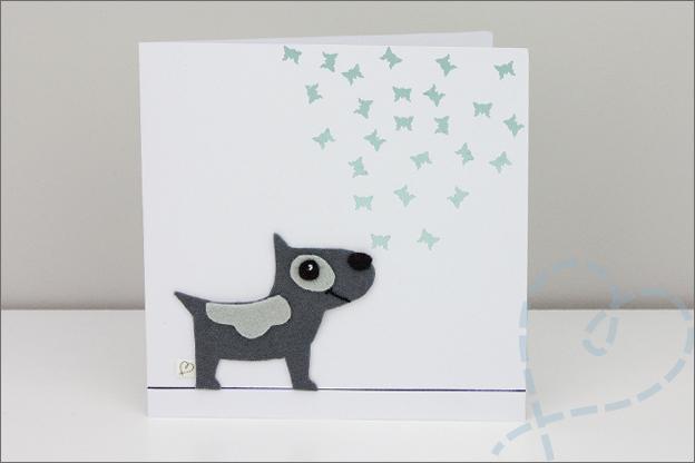 verjaardagskaart met hond