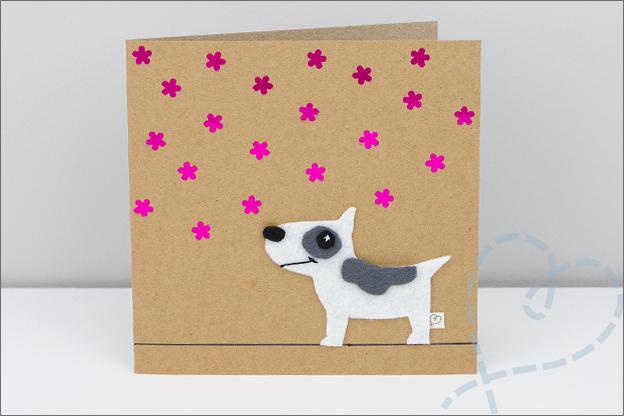 verjaardagskaart zelfgemaakt hond