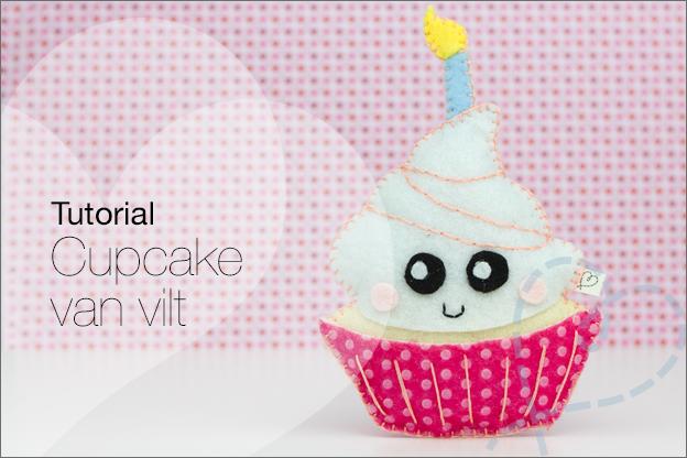 cupcake van vilt knutselen