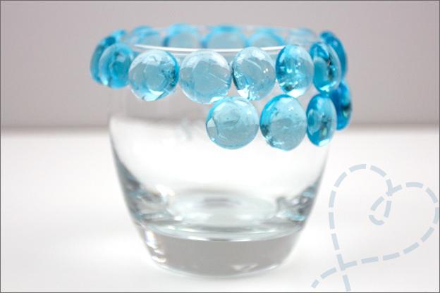 glas beplakken met glasstenen
