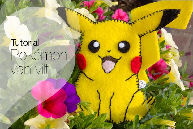 Pokémon knutselen van vilt DIY tutorial