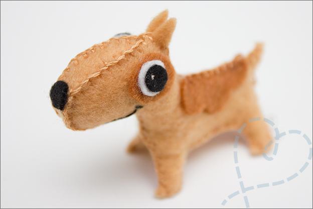 Hondje maken van vilt