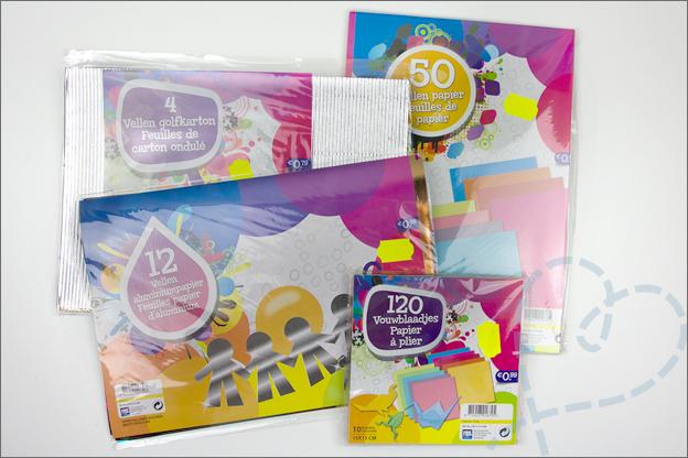 shoplog kruidvat opruiming knutselspullen papier