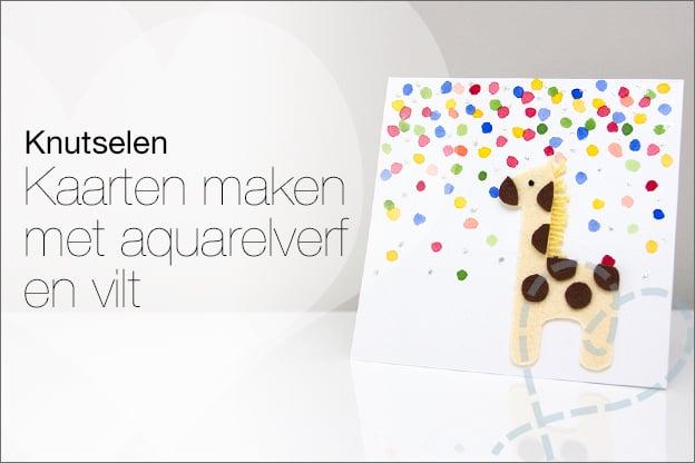 zelf kaarten maken met aquarelverf en vilt