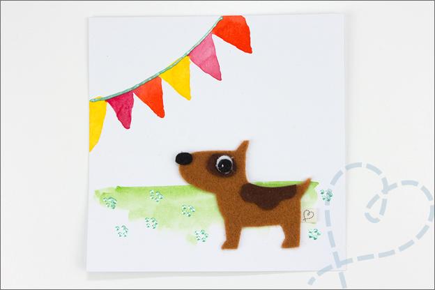 kaart met hond zelf gemaakt