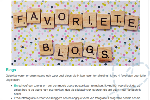 favoriete blogs