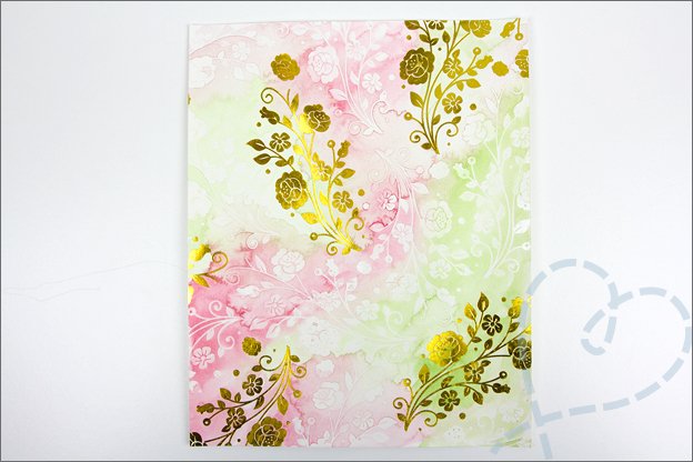 Aquarel met folie bloemen