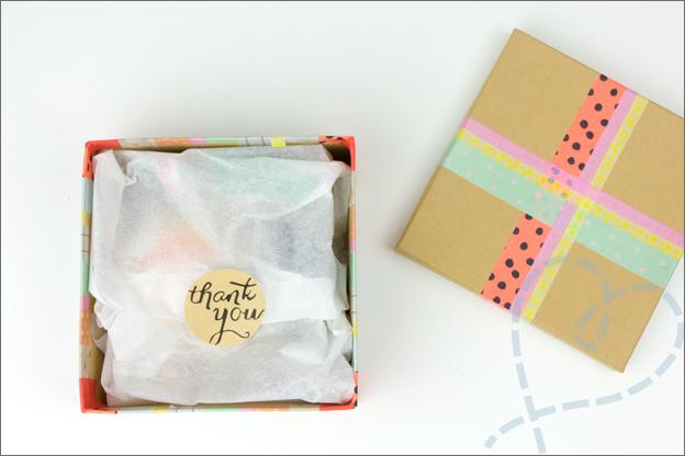 cadeaudoosje met vloeipapier
